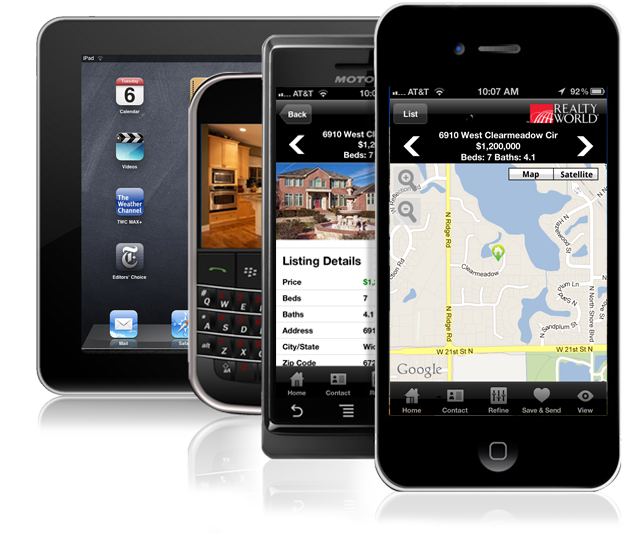 IOS, Android, BlackBerry, Windows Mobile